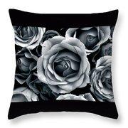 Rose Tones Throw Pillow