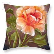 Rose Tropicana Throw Pillow