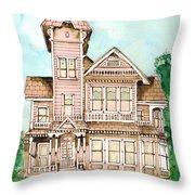 Rose Victorian Inn - Arroyo Grande Ca 1886 Throw Pillow