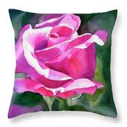 Rose Violet Bud Throw Pillow