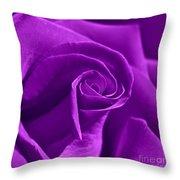 Rose Violet Throw Pillow