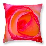Rose Whorls Throw Pillow
