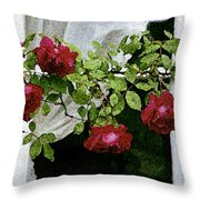 Rose Window Throw Pillow