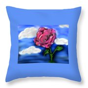 Rose Within The Clouds Throw Pillow