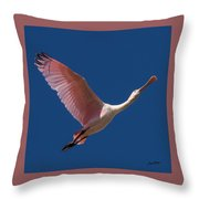 Roseate Flight Throw Pillow