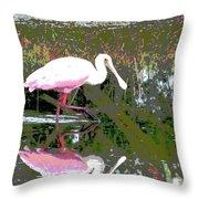 Roseate Spoonbill II Throw Pillow