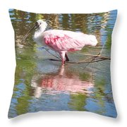 Roseate Spoonbill Young Adult Throw Pillow