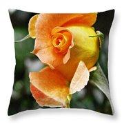 Rosebud Opening Throw Pillow