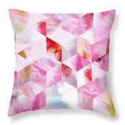 Roselique Cubes Throw Pillow