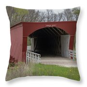 Roseman Covered Bridge - Madison County - Iowa Throw Pillow