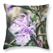 Rosemary Blooming Throw Pillow