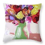 Rosemary's Tulips Throw Pillow