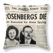Rosenberg Execution, 1953 Throw Pillow