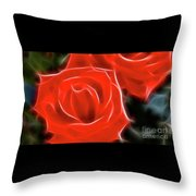 Roses-5814-fractal Throw Pillow