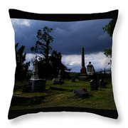 Roses After The Storm Throw Pillow