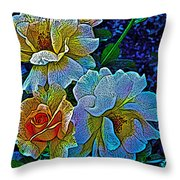 Roses Aglow Throw Pillow