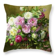 Roses  Throw Pillow by Albert Williams