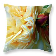Roses And Bud Throw Pillow