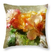 Roses And Crystal Throw Pillow