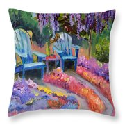 Roses And Fine Wine Throw Pillow