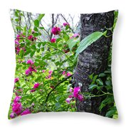 Roses And Mist Throw Pillow