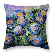 Roses Are Blue  Throw Pillow