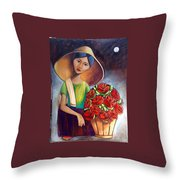 Roses Are Ref Throw Pillow