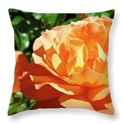 Roses Art Prints Orange Rose Flower 11 Giclee Prints Baslee Troutman Throw Pillow