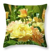 Roses Art Prints Rose Garden Flowers Giclee Prints Baslee Troutman Throw Pillow