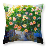 Roses At Table Bay Throw Pillow