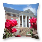 Roses At The Court House 2 Throw Pillow