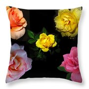 Roses Beautiful Throw Pillow