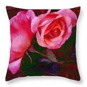 Roses Beautiful Pink Vegged Out Throw Pillow