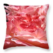 Roses Cinnamon Pink Rose Flowers 3 Rose Garden Art Baslee Troutman Throw Pillow