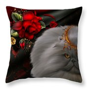Roses For A Queen # 2 Throw Pillow