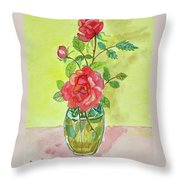 Roses For Dorothy Throw Pillow