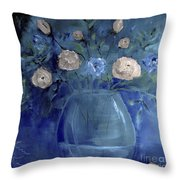 Roses For Him Painting Throw Pillow