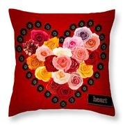 Roses For My Dear Love Throw Pillow
