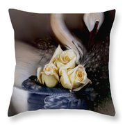 roses for Susan Throw Pillow