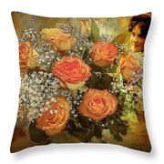 Roses From Judy Throw Pillow