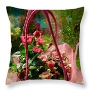 Roses Gift Bag Throw Pillow