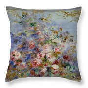 Roses In A Window Throw Pillow