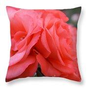 Roses In Dark Pink I Throw Pillow