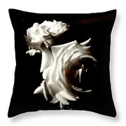 Roses In Moonlight 8 Throw Pillow