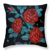 Roses In The Classic Style Throw Pillow