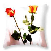 Roses In The Light Throw Pillow