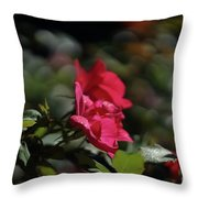 Roses In The Wind Throw Pillow