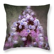 Roses Lilac And Shabby Pink Throw Pillow