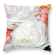 Roses Multi Color Throw Pillow