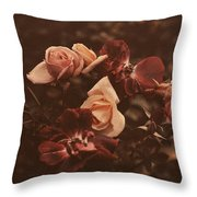 Roses Of Yesteryear Throw Pillow